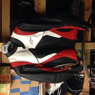 Alpine stars black label xxl jacket like new-red/white/black