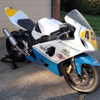 2005 GSXR450 triple race bike.