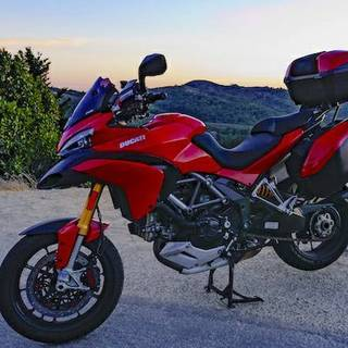 2012 ducati multistrada 1200s touring with Brembo Monoblocs & BrakeTech Axis Iron rotors ++